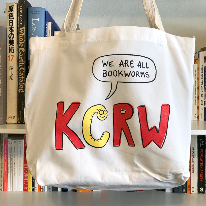 bookworm tote front kcrw spring 2020